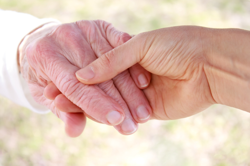 Compassionate touch helps both caregiver and elder loved one